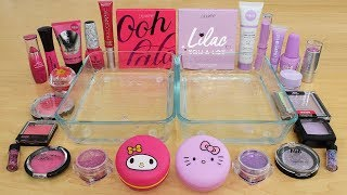 Pink vs Lilac - Mixing Makeup Eyeshadow Into Slime Special Series 228 Satisfying Slime Video