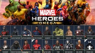 Marvel Heroes Omega: Closed Beta - All Characters And Costumes