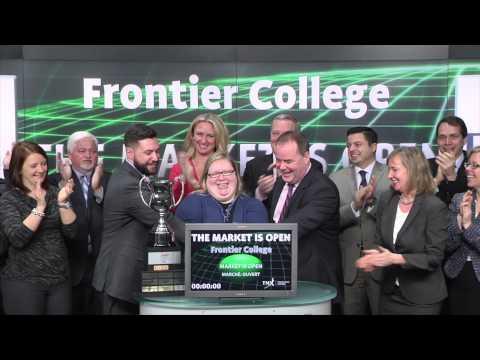 Frontier College opens Toronto Stock Exchange, March 10, 2015