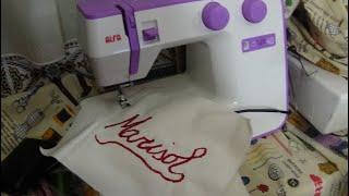 Borda en una máquina de coser casera