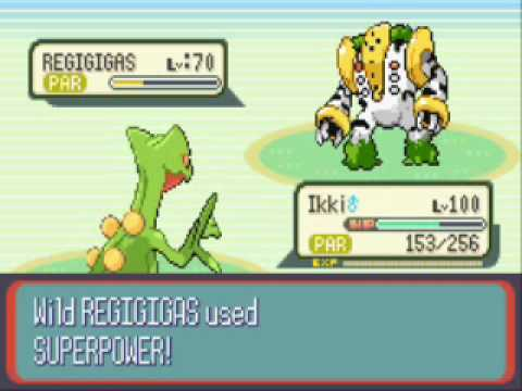Pokemon Ruby Destiny-Catching Regigigas