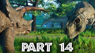 Jurassic World Evolution Gameplay Walkthrough Part 14 - WHAT DINOSAURS GET ON ???