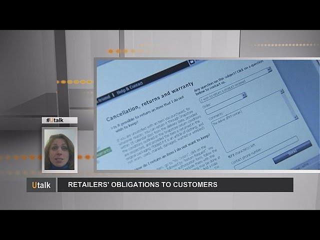 Retailers' obligations to customers - utalk