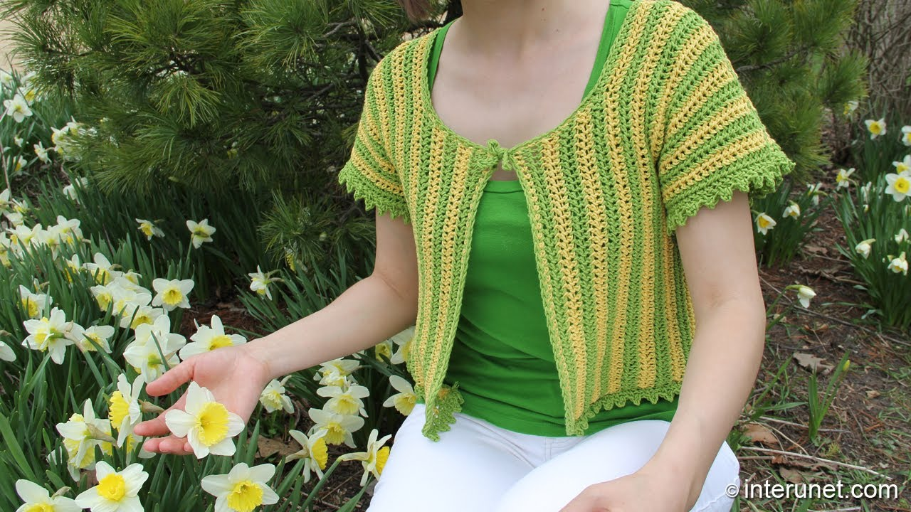 How to crochet womens short sleeve summer top - two ...