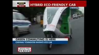 Chennai youngster invents hybrid eco-friendly cab