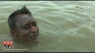 সাঁতরে ১৪৬ কিলোমিটার পাড়ি দিলেন নেত্রকোনার ৬৬ বছর বয়সী ক্ষিতীন্দ্র চন্দ্র