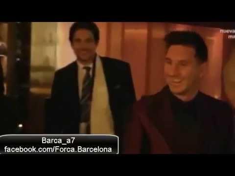 Cristiano Ronaldo sends his son to greet Lionel Messi