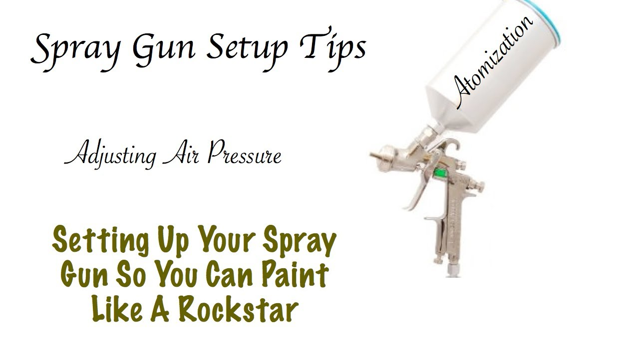 Spray Gun Drawing Spray Gun Setup How to Set