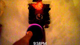 Regula Blackforest 8-day Cuckoo Clock With Wooden Weights Strikes 10pm (vid 2)