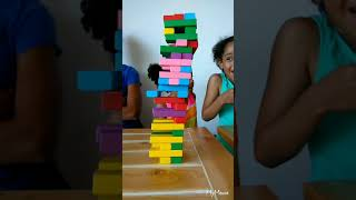 Craziest defying gravity game of Jenga! Wait til you see who loses this unbelievable game!