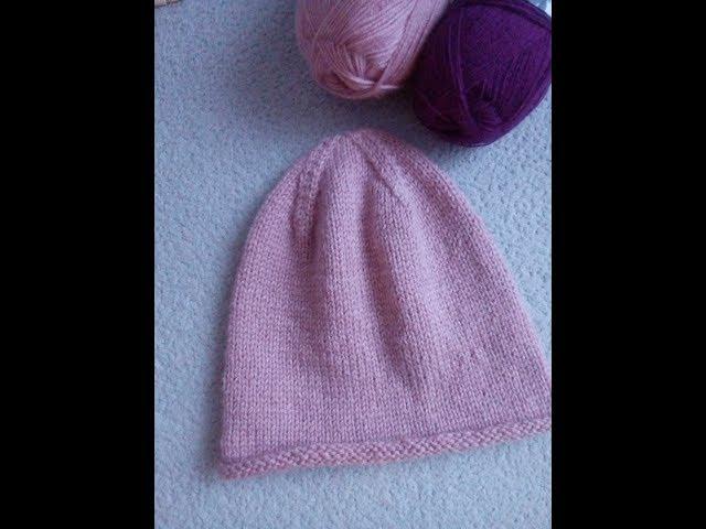 Вязаная шапка ( Бини). Вяжем макушку. Вязание спицами.