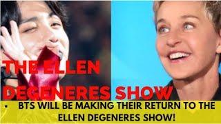 BTS news today: BTS will be making their return to The Ellen DeGeneres Show