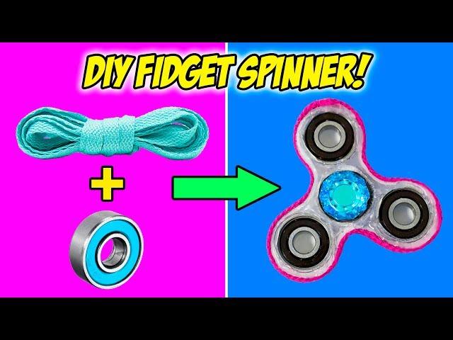 10 DIY Fidget Spinner Hacks You Should Know! How To Make A Fidget Spinner!