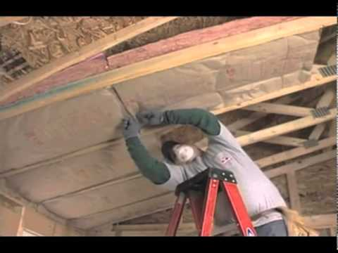 Owens Corning Ceiling Batt Insulation Youtube