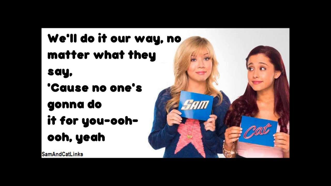 Sam & Cat Theme Song - Just Fine [lyrics] - YouTube