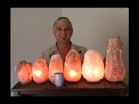 Salt Lamps Near Tv : Himalayan Rock Salt Lamps - YouTube