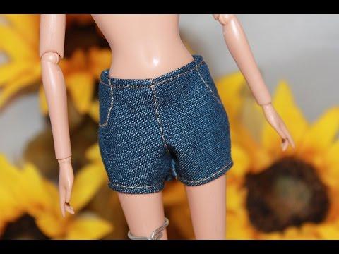 Сшить шорты для кукол барби 856