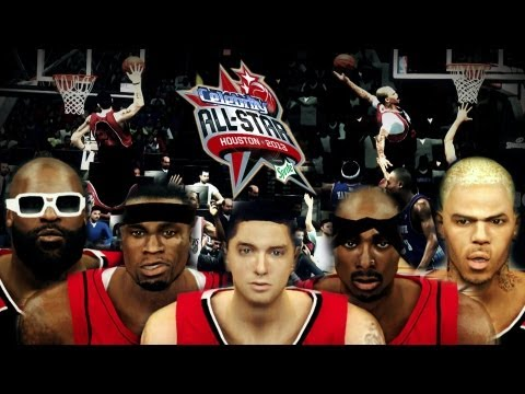 NBA 2K13 - Eminem vs TuPac ! Celeb AllStar Team presented by MGX151   Christmas Mod Special !