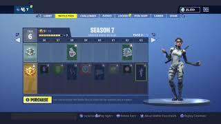 Fortnite Season 7 Battle Pass Tier 1 100 Showcase