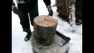 Funny chop wood - interesting style