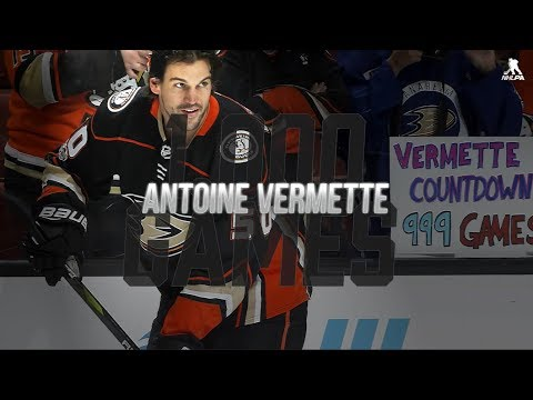 A tribute to Antoine Vermette's 1,000th NHL game