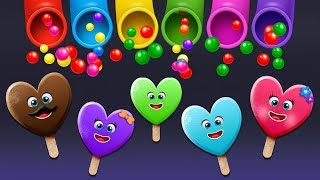 Fun Ice Cream Finger Family Play with Surprise Eggs and Color Balls