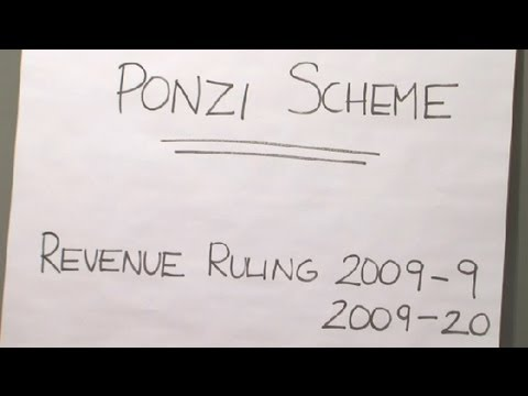 Tax Breaks for Ponzi Scheme Victims : Financial Planning & You