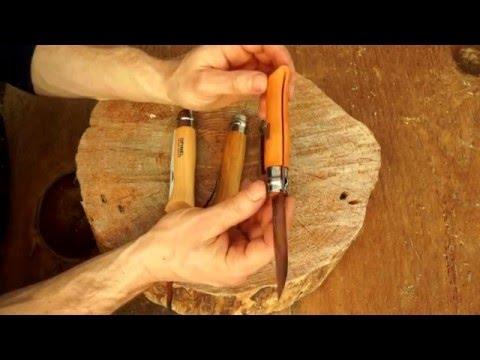 Opinel 8 Overview - Beech. Oak and Walnut
