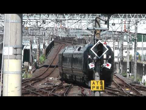 お召し列車 Royal train E655 日章旗と菊の御紋をつけて蘇我到着