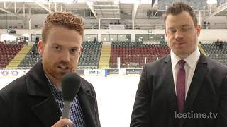 2018-01-10 - Cardiff Devils v Guildford Flames, Andrew Lord Post Game Interview