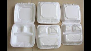 ps foam disposable fast food plate tray machine line, ps foam hamburger box making machine