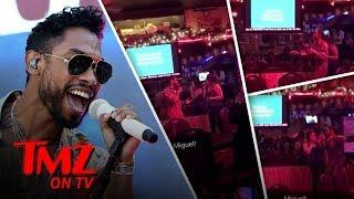 Miguel Surprises A Karaoke Singer!   TMZ TV