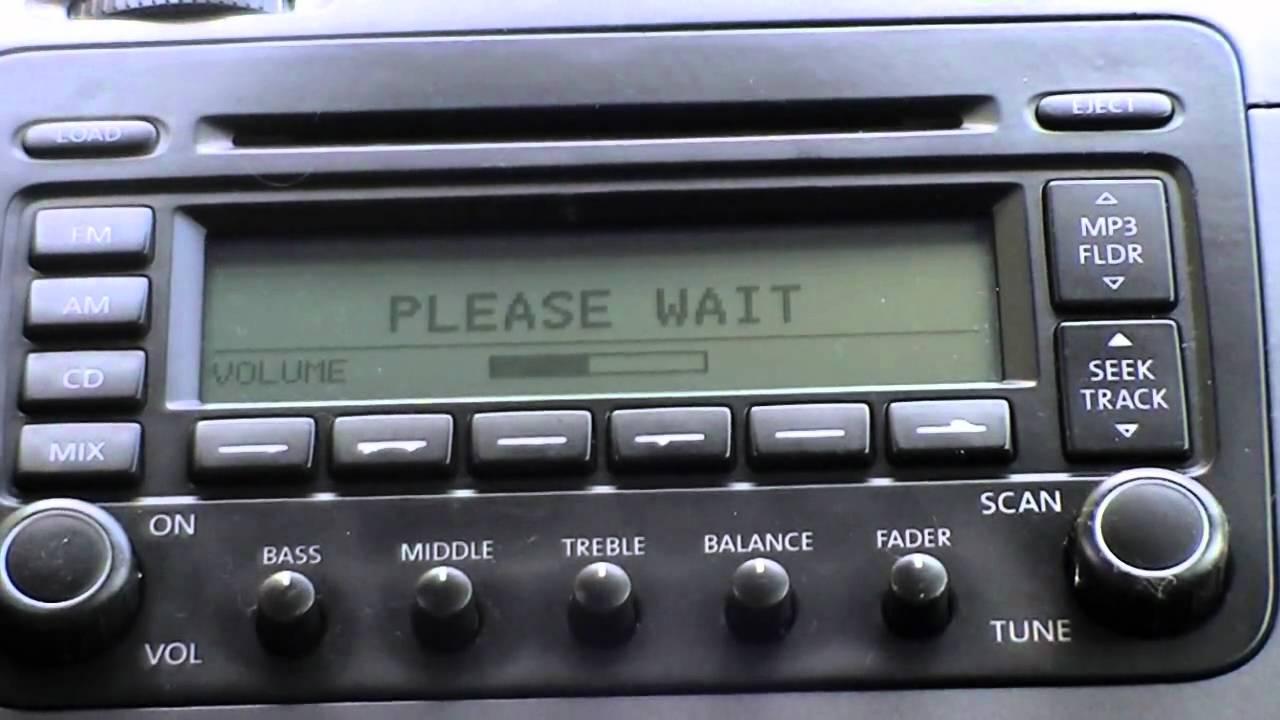 Vw Jetta 2005 Radio - Cdc Hardware Error - Vw Jetta 2 5 Start Up