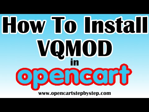 How To Install VQMod On Opencart 1.5.6.4