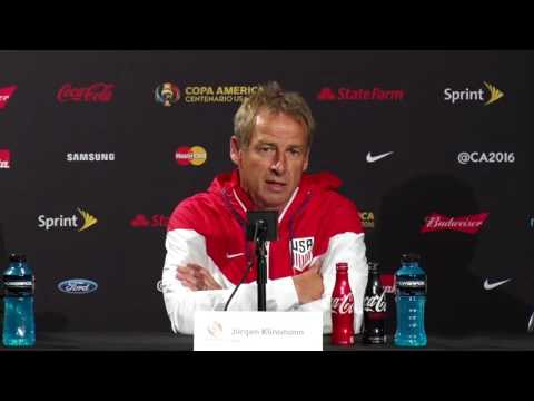 USA - Paraguay Press Conference Jurgen Klinsmann