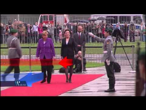 TVP1 Wiadomości - Etykieta Frau Merkel - Marcin Antosiewicz