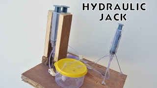 How to Make Hydraulic Jack - Cool Science Project - at Home
