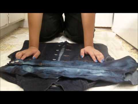 How To: Acid Wash Denim Vests