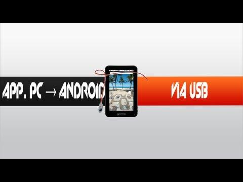 Como passar aplicativos do computador para o android via USB