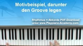 Klavier lernen: Linke Hand Begleitpattern Bolero