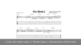 Jazz Guitar Riff/Solo 11 from the book 100 Ultimate Jazz Riffs for Guitar