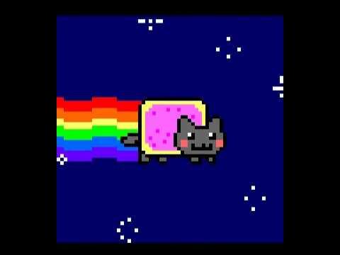 Nyan Cat on Amstrad CPC