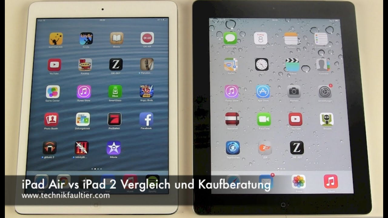 ipad air vs ipad 2 vergleich und kaufberatung youtube. Black Bedroom Furniture Sets. Home Design Ideas