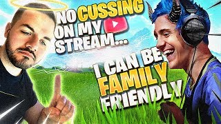 I RUIN COURAGE'S FAMILY FRIENDLY STREAM!? (Fortnite: Battle Royale)