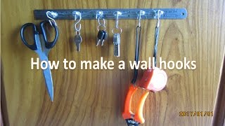 DIY: How to make a wall hooks