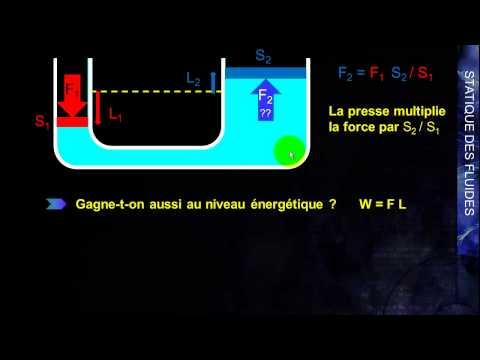 L2 SVTE - Principe de Pascal  - Application à la presse hydraulique