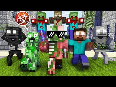Monster School : GIANT ZOMBIE APOCALYPSE CHALLENGE - Minecraft Animation