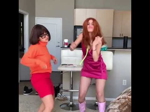 Lele Pons And Inanna Sarkis funny dance on Scooby Doo Papa