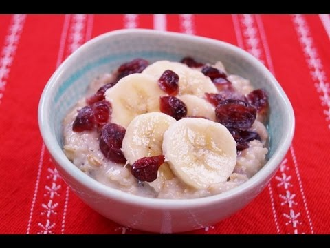 Healthy Oatmeal Breakfast Recipe: Banana Cranberry: Easy: How To: Diane Kometa-Dishin' With Di #37
