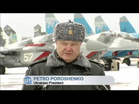 Ukrainian Leader Presented New Arsenal to Army: Poroshenko says no peace until Russian forces depart